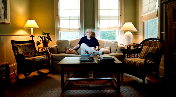 E. L. Doctorow's home is neat, unlike the notoriously cluttered confines of the subjects of his novel, the Collyer brothers.