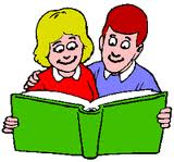 man and woman reading